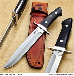 No.408 - Battle knife  N695/Micarta (Loveless design)