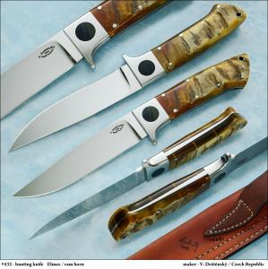 No.432 - Hunting knife  Elmax / ram horn
