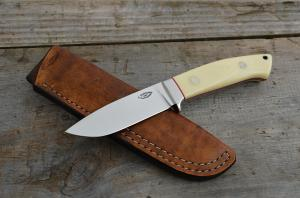 No.327 - drop point RWL 34/micarta ivory